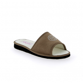 Mule ouverte Info- Taupe