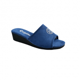 Mule compensée Ynes- Bleu foncé